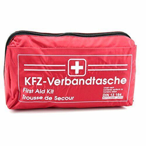 Verbandstasche Auto KFZ Verbandskissen Verband Unfallset rot DIN 13164