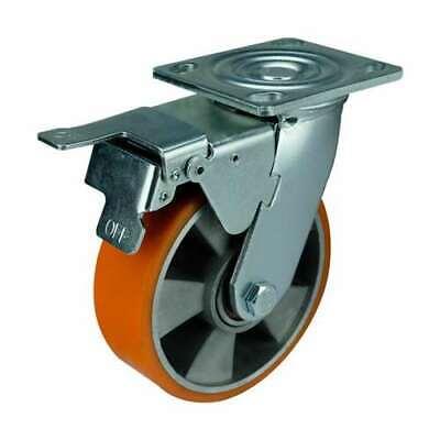 6 Inch Caster Wheel 1102 Pounds Swivel And Upper Brake Aluminium And Polyuret