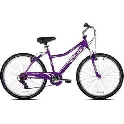 Woman's City Bike 7 SHIMANO SPEED Comfort Bicycle Purple Cruiser Full Suspension