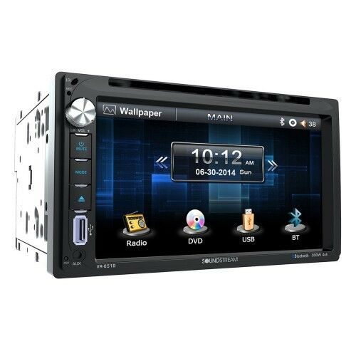 """Soundstream Double Din VR-651B DVD/CD/MP3 Player 6.5"""" LCD Display Bluetooth New"""