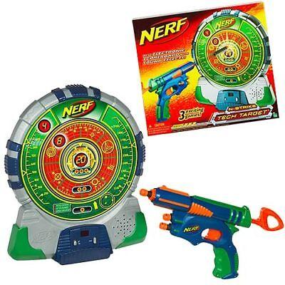 New Nerf N Strike Tech Target Dart Blaster Set  Electronic Game