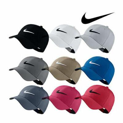 - Adult Nike Golf Hat Legacy91 Dri Fit Tech Logo Cap Hat Black Red Navy Gray