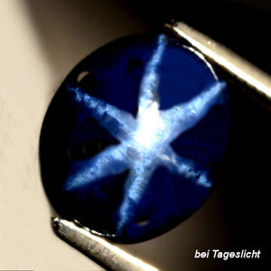 4.96 ct  Ovaler dunkelblauer 10.8 x 9 mm Blue Star Sternsaphir