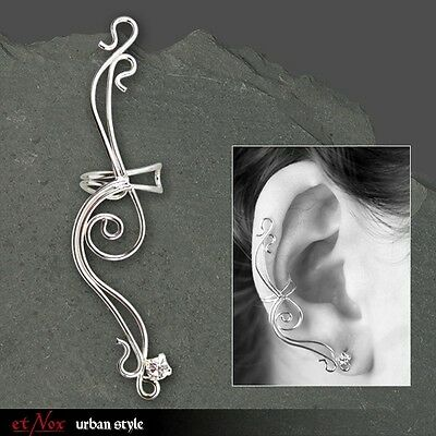 "etNOX 925 SILBER STERLINGSILBER OHRKLEMME ""Large Earline"" RECHTES OHR EAR CUFF"