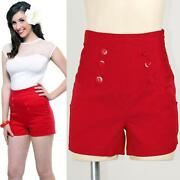 Rockabilly High Waisted Shorts