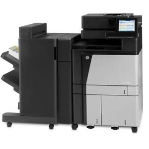 LEASE/BUY HP Color LaserJet Enterprise flow MFP M880 880 Copier Printer Scanner Fax Stapler Finisher Booklet Hole Punch