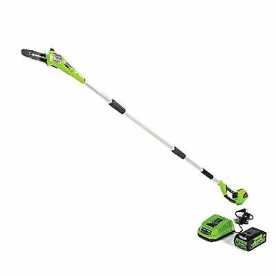 Greenworks 8.5' 40V Cordless Pole Saw, 2.0 AH Battery Includ