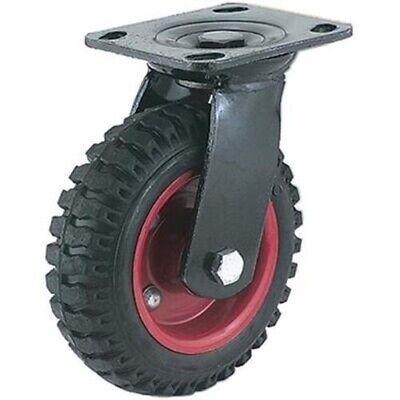 6 Knobby Wheel Rought Terrain Outdoor Outside Swivel Caster