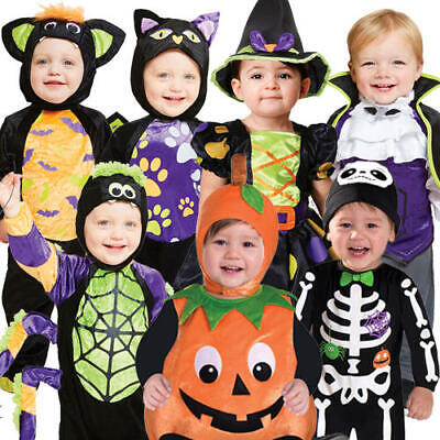 Halloween Toddlers Fancy Dress Fun Spooky Cute Boys Girls Kids Babies Costumes