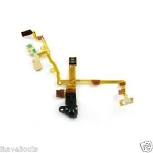 Headphone-Audio-Jack-Flex-Ribbon-Cable-Replacement-Repair-Part-iPhone-3GS-Black