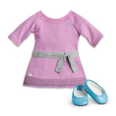 NIB-AMERICAN GIRL LILAC DRESS & SHOES FOR DOLL MEET OUTFIT