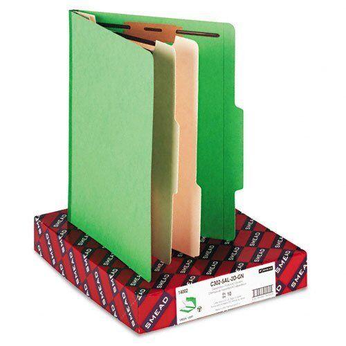 """Smead 14002 Green Classification File Folders - Letter - 8.50"""" Width X 11"""""""