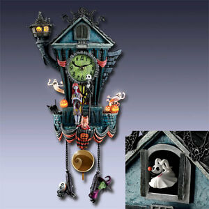 disney tim burton nbx nightmare before christmas cuckoo clock new