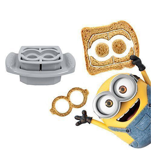 FunBites Food Cutter Set - Minions Goggles Silver NEW with FREE SHIPPING