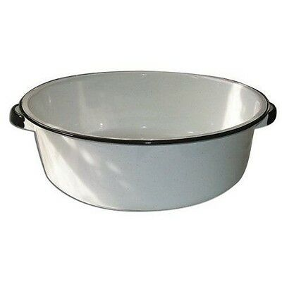 Columbian Home 6416-4 White Enamel Large 15 Quart Ceramic on Steel Dish Pan
