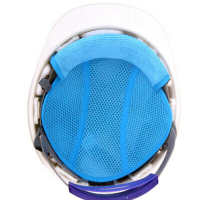 3 Pcs Insert Cooling Air Mesh Pad Sweatband (Blue) for Hard Hat Safety Helmet