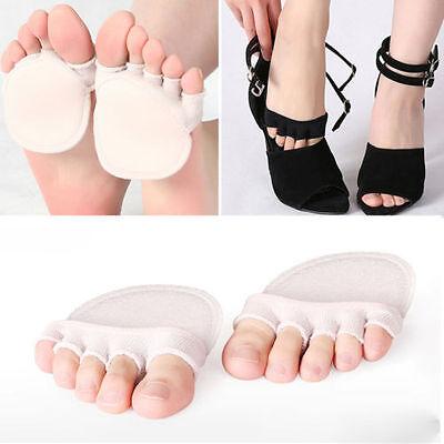 Women Non Slip High Heels Sandal Invisible Half Footie Open Toe - Toe Footies