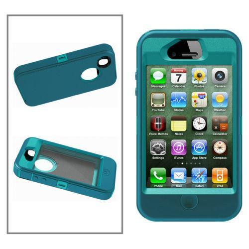 otterbox iphone 4 iphone 4 otterbox defender green teal ebay 12745