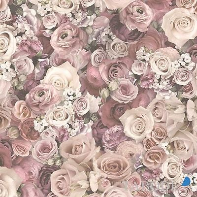 A.S. Creation Urban Flowers Vlies Tapete 327222 Floral creme rosa