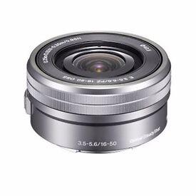Near new Sony E PZ 16-50mm f/3.5-5.6 OSS in Silver