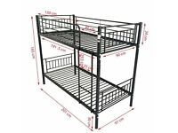 bunk beds kids black new