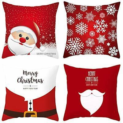 FZCRRDU KOCCAE 18 x18 Inch Christmas Throw Pillow Cover Set of 4 Holiday Decor