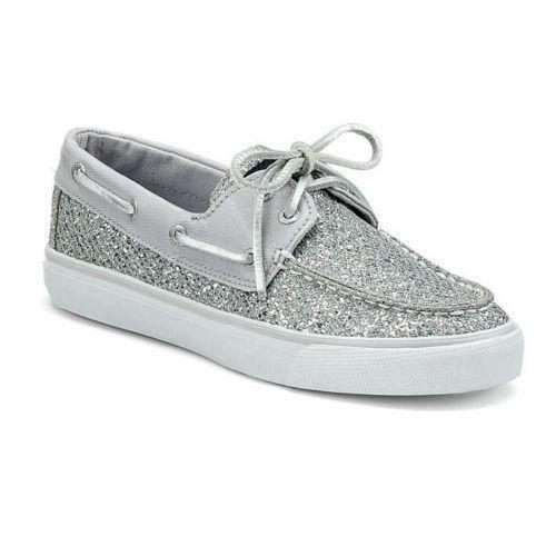 silver s sperry shoes ebay