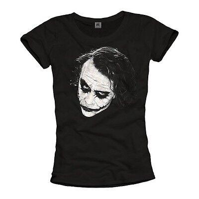Batman Damen Shirt (Joker Damen T-Shirt Batman Top Robin Gotham City Dark Knight Ledger Frauen Top )