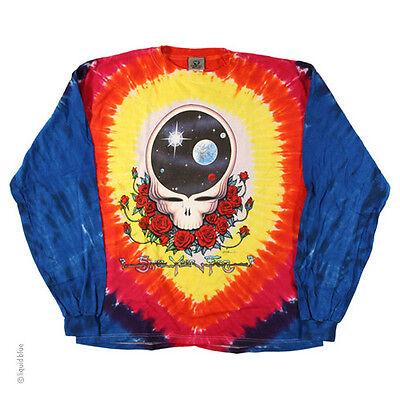 New GRATEFUL DEAD Space Your Face Long Sleeve Tie Dye T Shirt](Grateful Dead Space Your Face Shirt)