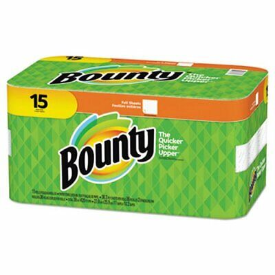 Bounty Paper Towels, Full Sheet - Bulk Pack of 15
