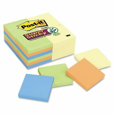 Post-it Super Sticky Notes In Canary Yellowelectric Glow Colors - Self-adhesive