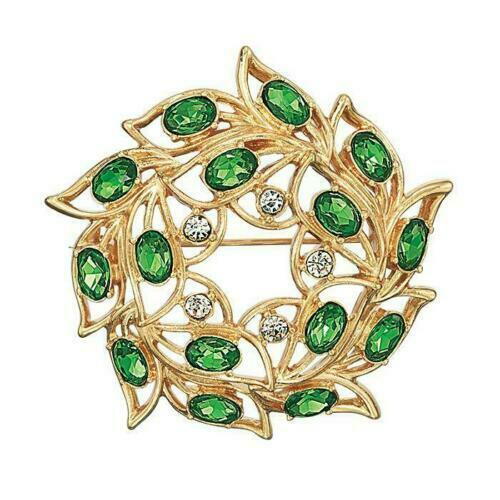 NEW! AVON 2019 ICONIC COLLECTIBLE CHRISTMAS WREATH GREEN PIN