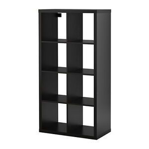Expedit Shelving Unit in Black-brown