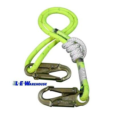 3-6 Ft Double Braid Composite Adjustable Rope Lanyard - All Gear Arborist
