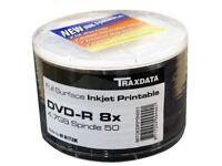 Traxdata Ritek printable blank DVD-R 8x recordable media