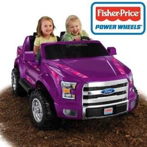 OB FISHER PRICE GIRLS F150 RIDE ON BCV58 189522020 POWER WHEELS FORD 12V PURPLE CAMO OPEN BOX