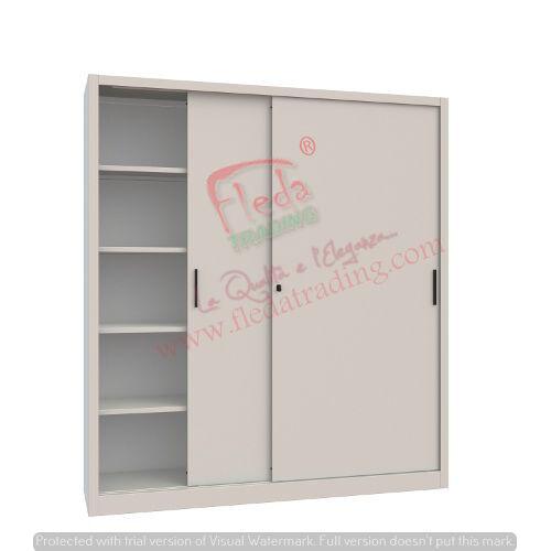 Armadio in Metallo Ufficio / Archiviazione Ante Scorrevoli Dim. 180x45x200h cm