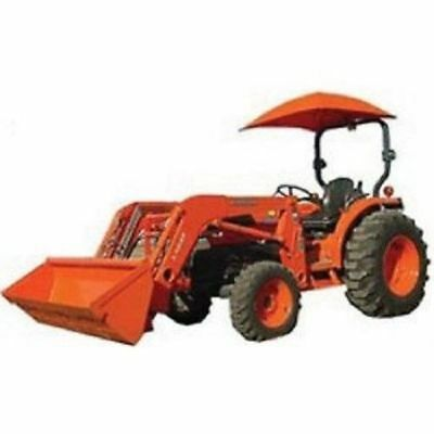 Rops Orange For Kubota Tractor Umbrella Canopy Canvas - Orange Not Oem