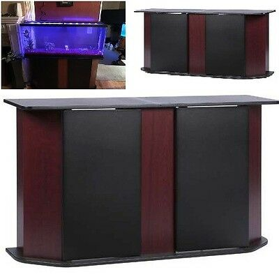 Deluxe 55 Gallon Aquarium Stand Storage Cabinet Fish Tank Holder Cherry Brown