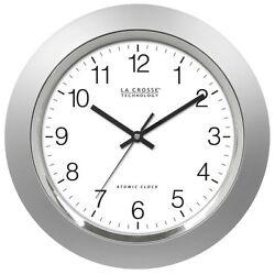 La Crosse Technology WT-3144S 14 Inch Atomic Analog clock - Silver , New, Free S