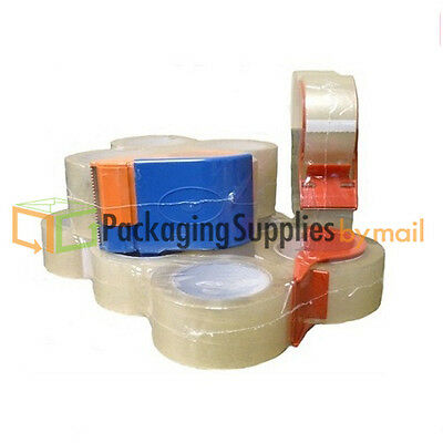 Clear Packing Tape 2 X 55 Yards 2 Mil Carton Sealing Tapes 4 Rolls Dispenser