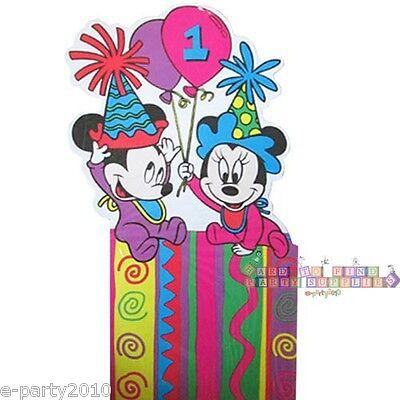 DISNEY BABIES Mickey and Minnie's 1st Birthday STANDUP CENTERPIECE ~ Party vtg