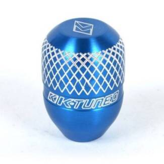 K-Tuned Billet Shift Knob - Blue- Silver Anodized