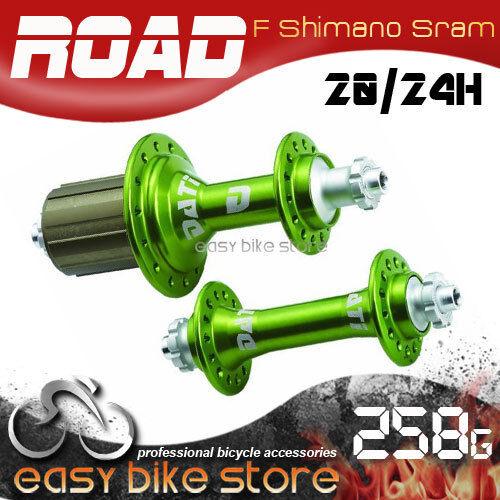SHIMANO * GREEN Dati areo Road Bike Super Light Bearing Hub *20 24H *