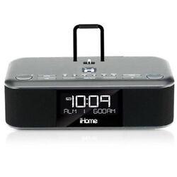 iHome iDL95 Lightning Dock Clock Radio and USB Charge/Play for iPad/ iPhone
