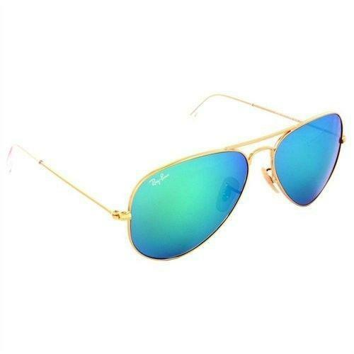 ray ban aviator blue glass  ray ban aviator green