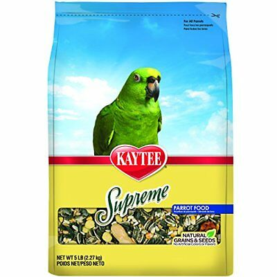 Kaytee Supreme Bird Food For Parrots, 5-Lb Bag
