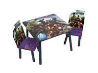 Marvel avengers table and chair