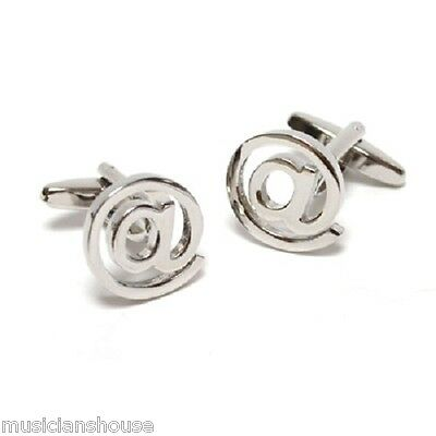 Apetail Atmark At Sign Email Address It Cufflinks Mens Present Gift Boxed