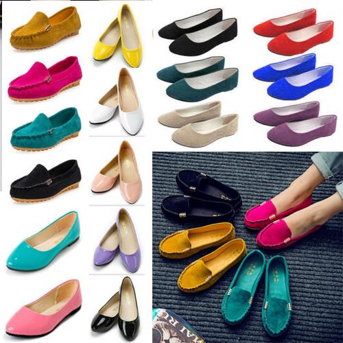 women lady dress shoes plain ballet shoes